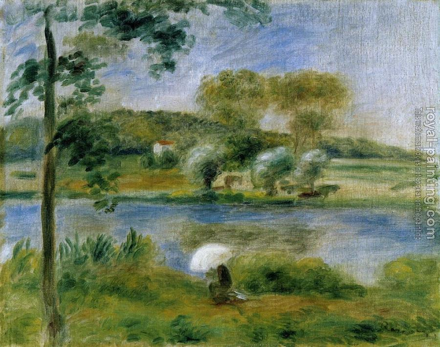 Pierre Auguste Renoir : Landscape, Banks of the River