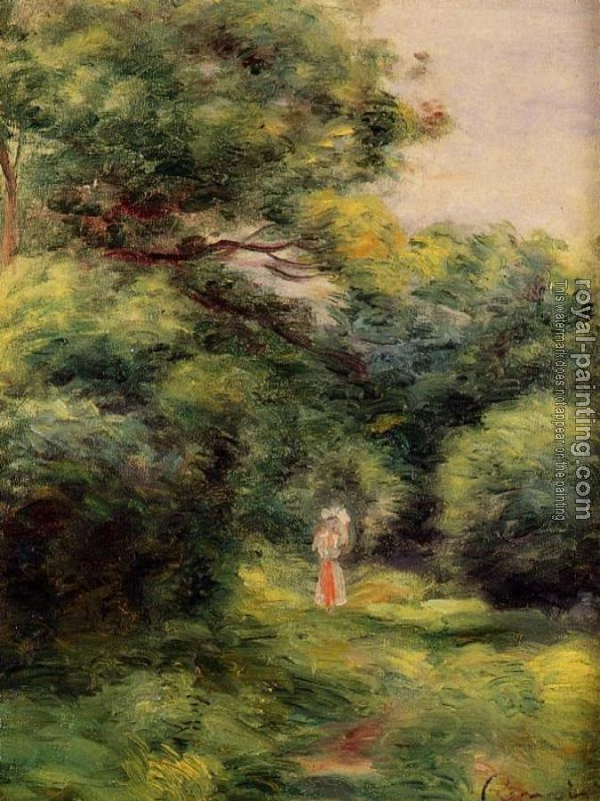 Pierre Auguste Renoir : Lane in the Woods, Woman with a Child in Her Arms