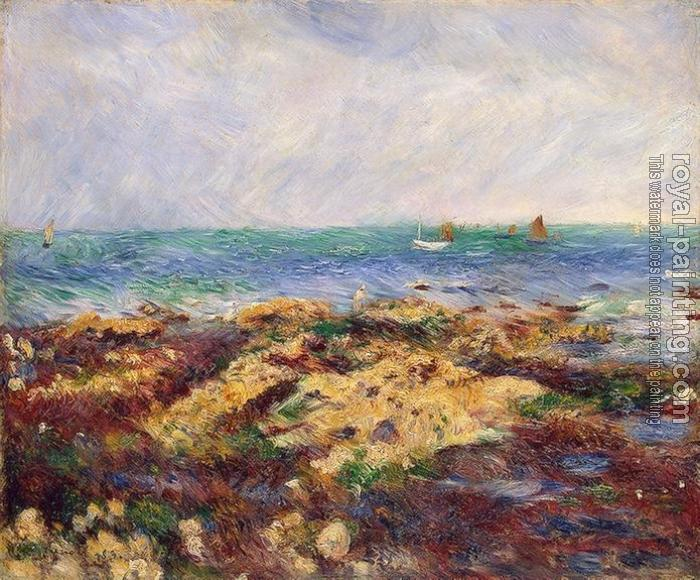 Pierre Auguste Renoir : Low Tide at Yport