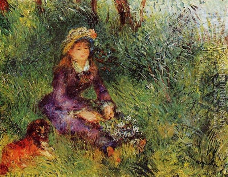 Pierre Auguste Renoir : Madame Renoir with a Dog
