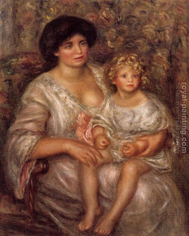 Pierre Auguste Renoir : Madame Thurneyssan and Her Daughter