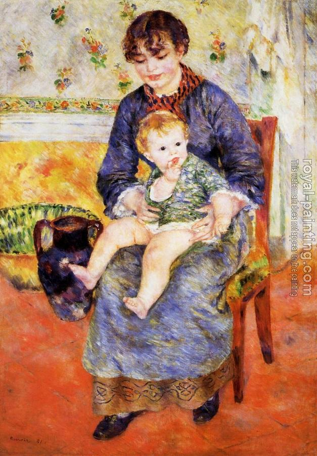 Pierre Auguste Renoir : Mother and Child
