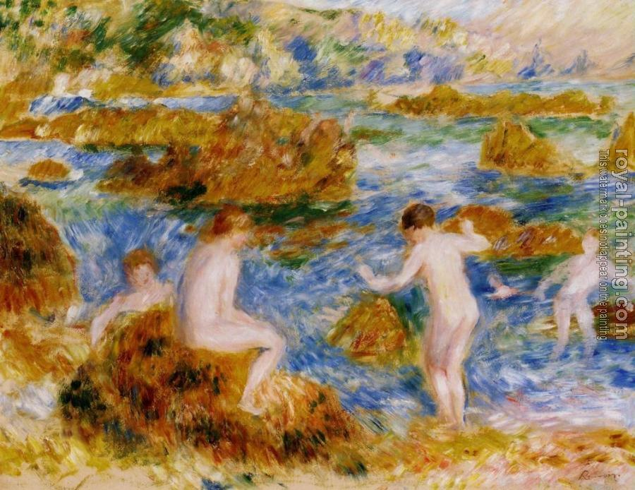 Pierre Auguste Renoir : Nude Boys on the Rocks at Guernsey