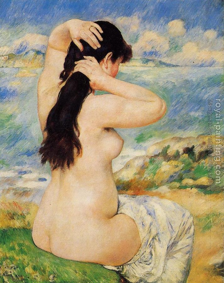 Pierre Auguste Renoir : Nude Fixing Her Hair