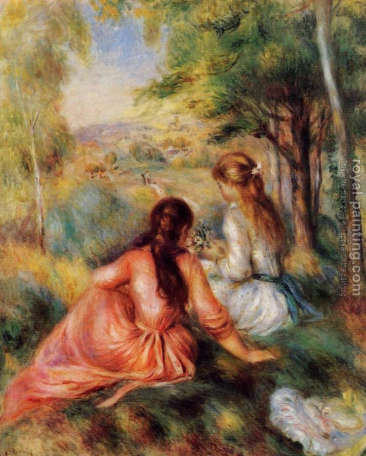 Pierre Auguste Renoir : Picking Flower, In the Field