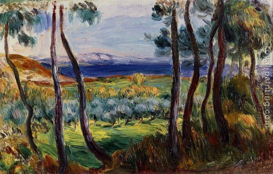 Pierre Auguste Renoir : Pines in the Vicinity of Cagnes