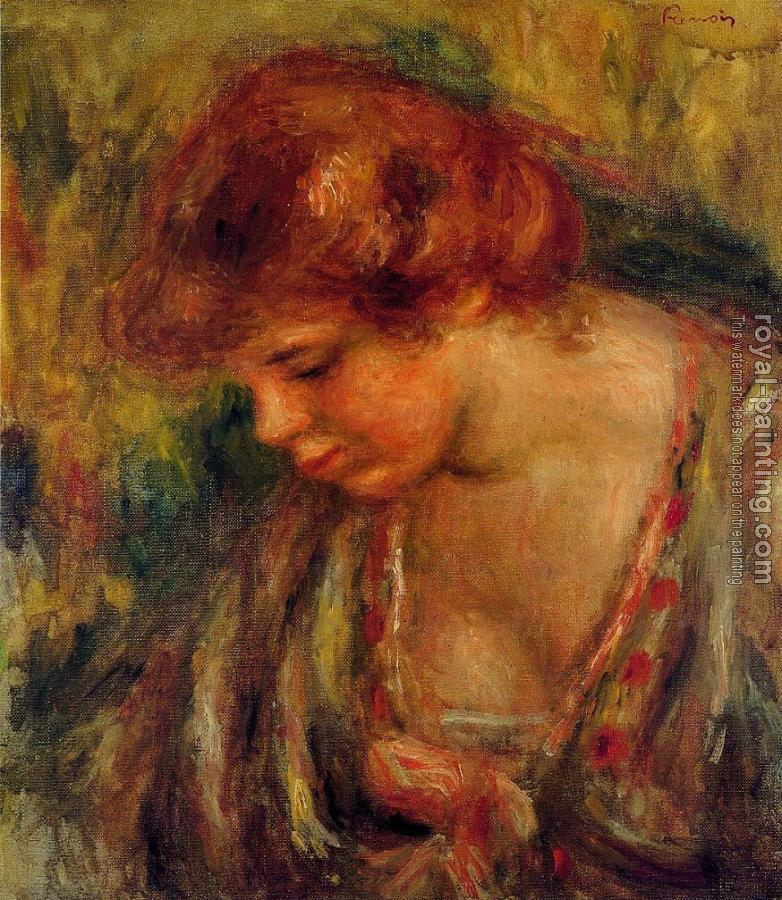 Pierre Auguste Renoir : Profile of Andre Leaning Over