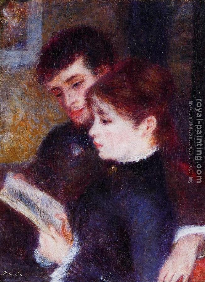 Pierre Auguste Renoir : Reading Couple, Edmond Renoir and Marguerite Legrand