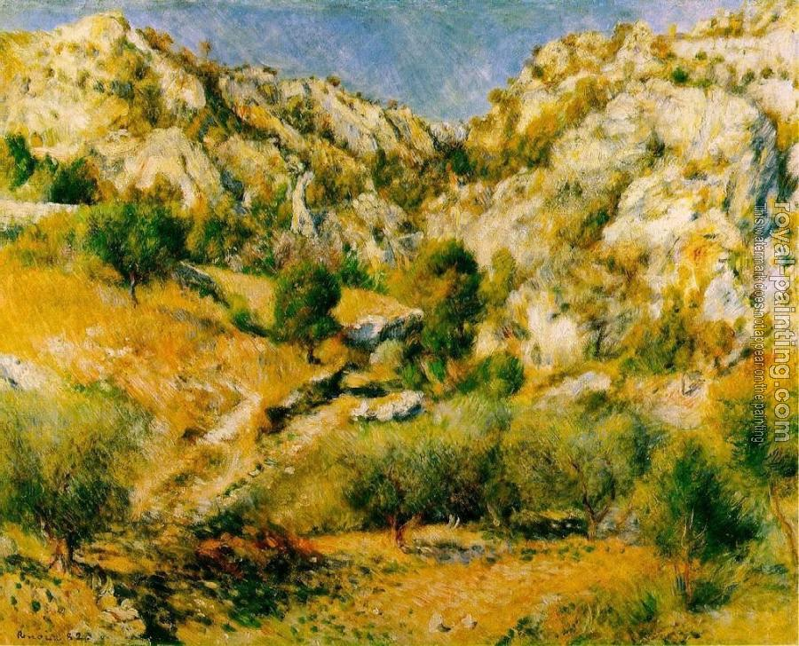 Pierre Auguste Renoir : Rocky Craggs at l'Estaque