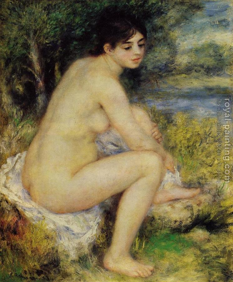 Pierre Auguste Renoir : Seated Bather IV