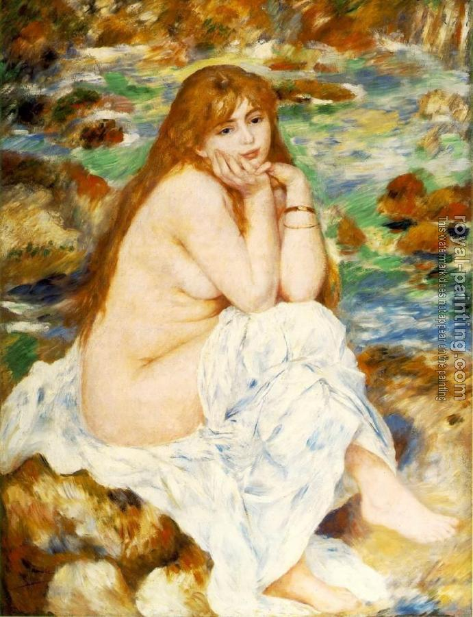 Pierre Auguste Renoir : Seated Bather V