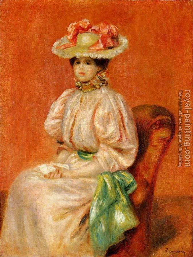 Pierre Auguste Renoir : Seated Woman with Green Sash