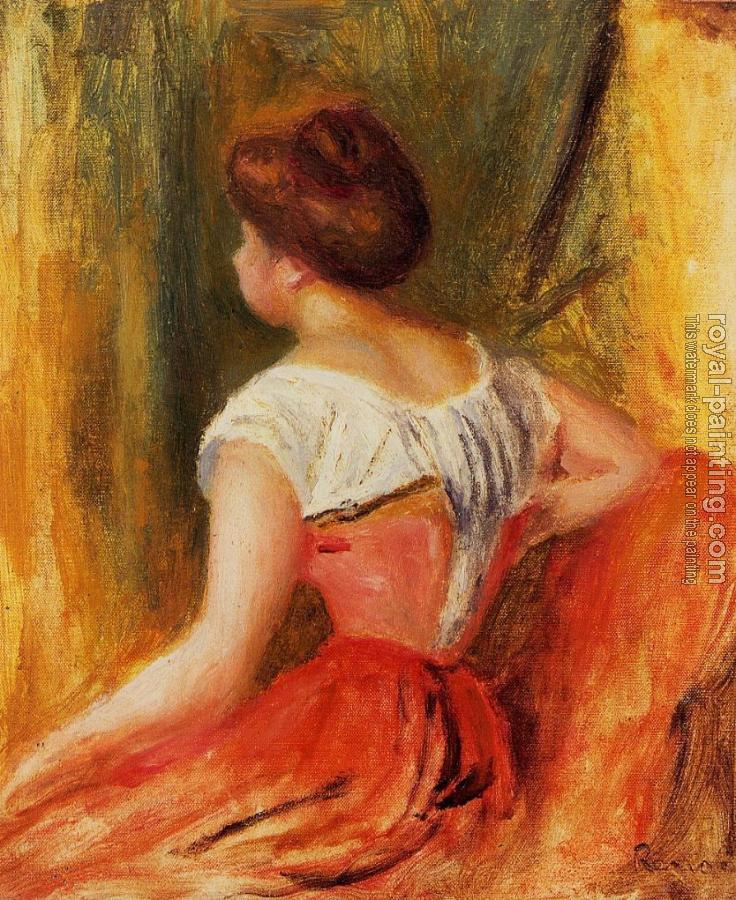 Pierre Auguste Renoir : Seated Young Woman