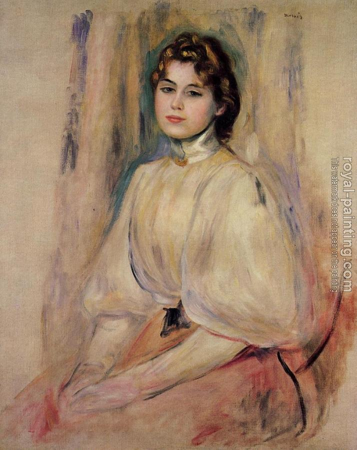 Pierre Auguste Renoir : Seated Young Woman II