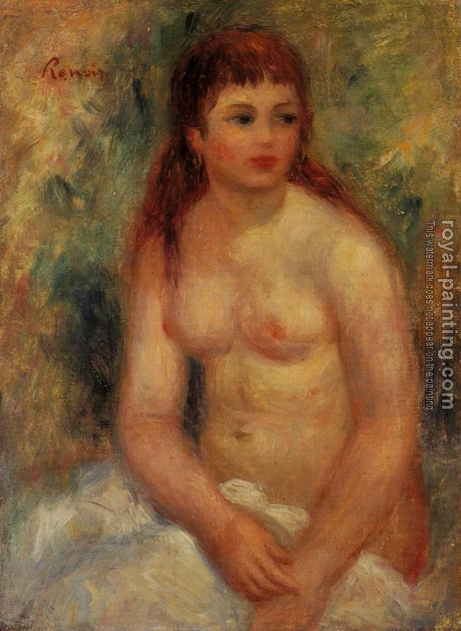 Pierre Auguste Renoir : Seated Young Woman, Nude