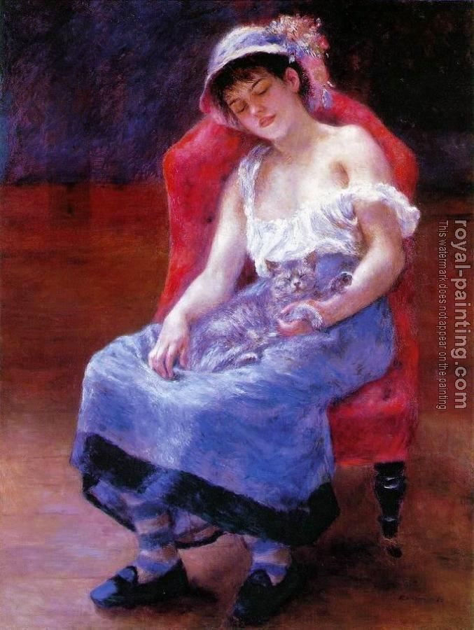 Pierre Auguste Renoir : Sleeping Girl, Girl with a Ca
