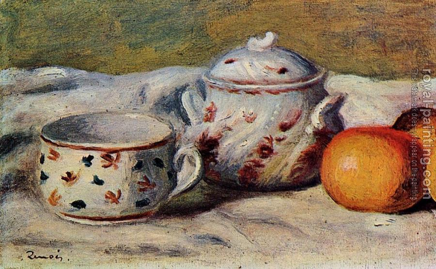 Pierre Auguste Renoir : Still Life with Cup and Sugar Bowl