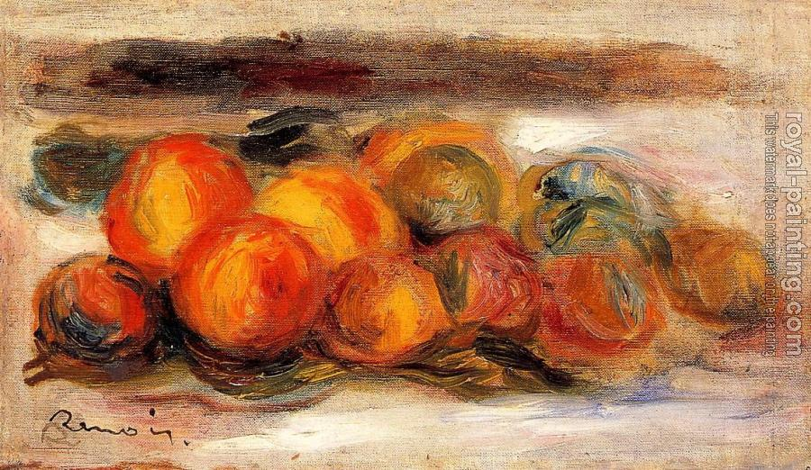 Pierre Auguste Renoir : Still Life with Peaches II