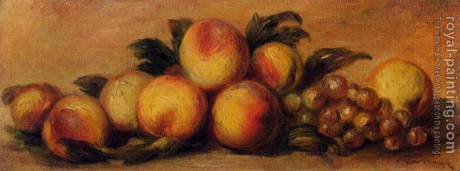Pierre Auguste Renoir : Still Life with Peaches and Grapes