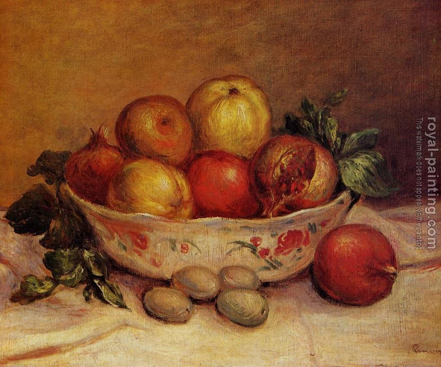 Pierre Auguste Renoir : Still Life with Pomegranates