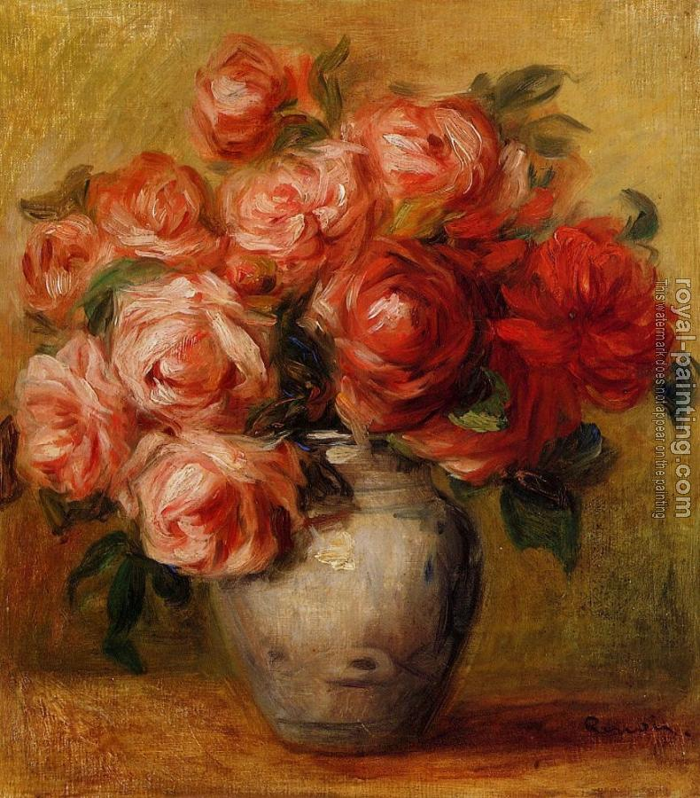 Pierre Auguste Renoir : Still Life with Roses II