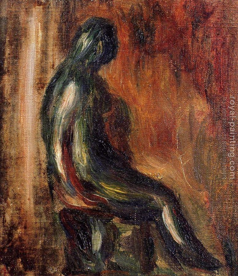 Pierre Auguste Renoir : Study of a Statuette by Maillol