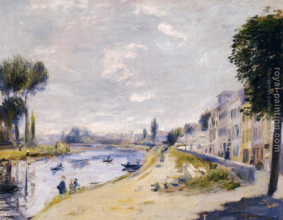 Pierre Auguste Renoir : The Banks of the Seine, Bougival