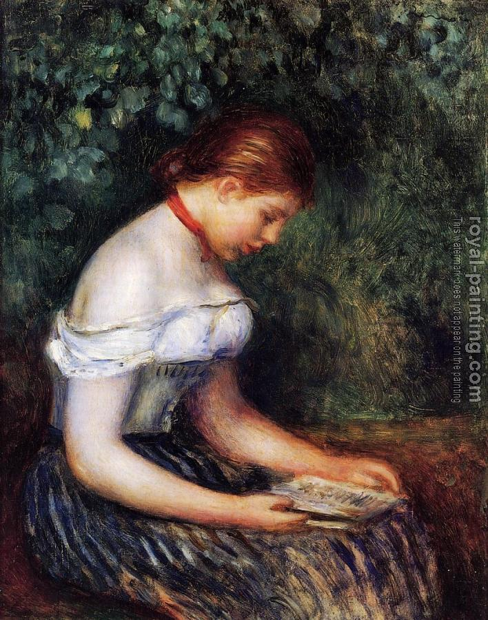 Pierre Auguste Renoir : The Reader, Seated Young Woman