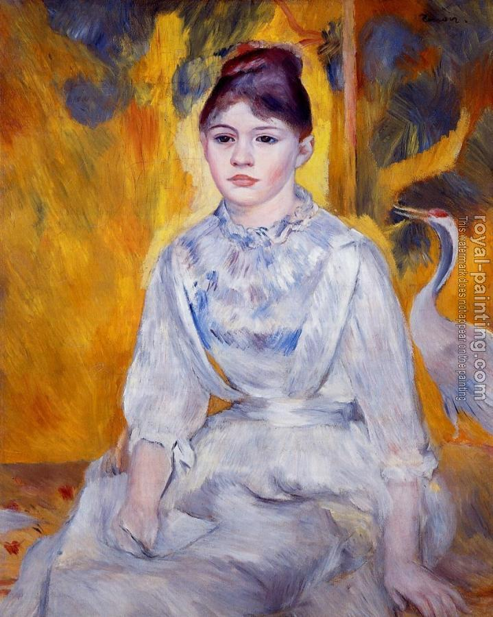 Pierre Auguste Renoir : Young Woman with Crane