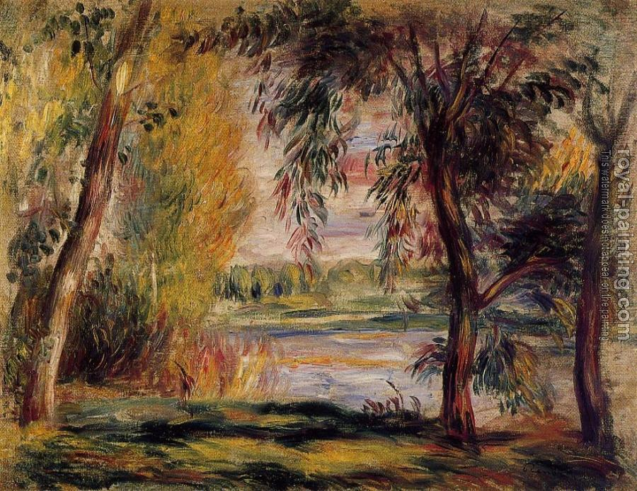 Pierre Auguste Renoir : Trees by the Water