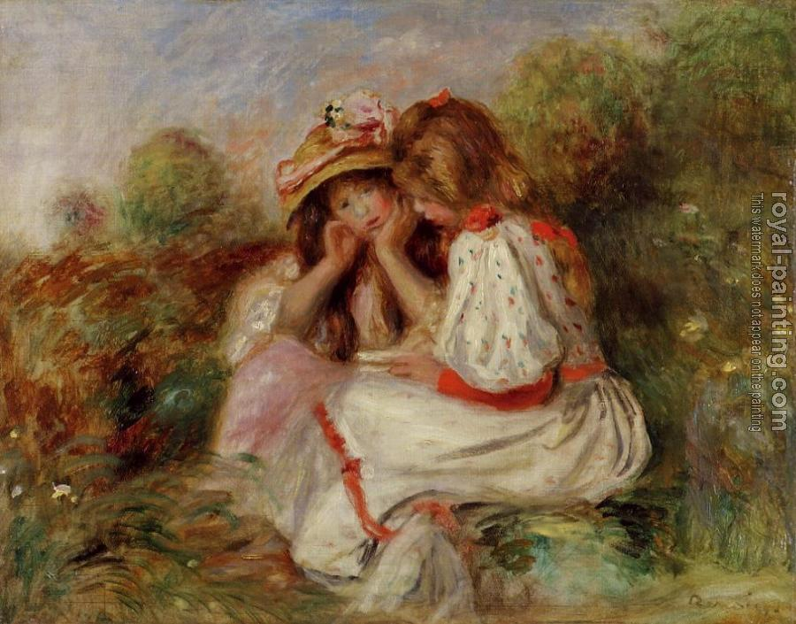 Pierre Auguste Renoir : Two Little Girls