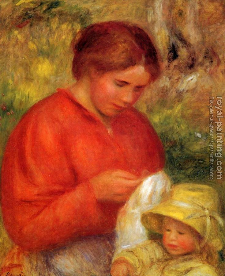 Pierre Auguste Renoir : Woman and Child II