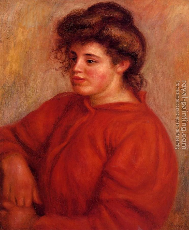 Pierre Auguste Renoir : Woman in a Red Blouse