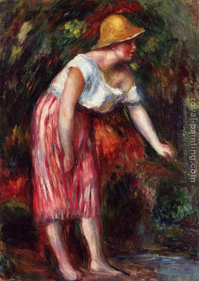 Pierre Auguste Renoir : Woman in a Straw Hat II