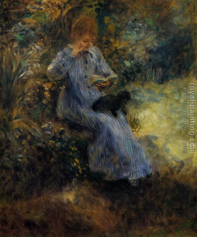 Pierre Auguste Renoir : Woman with a Black Dog