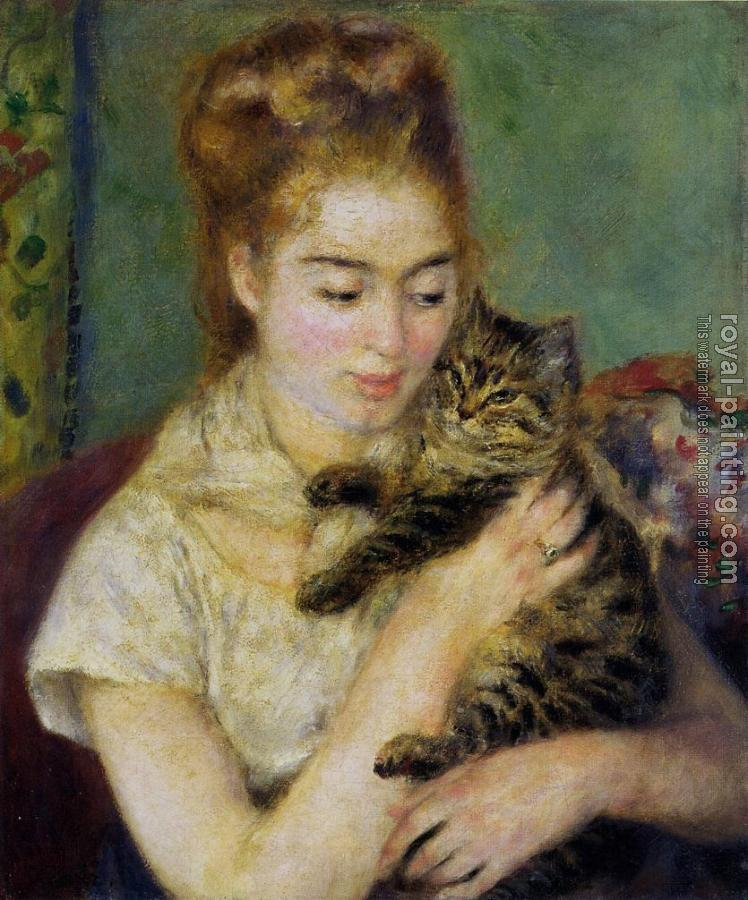 Pierre Auguste Renoir : Woman with a Cat