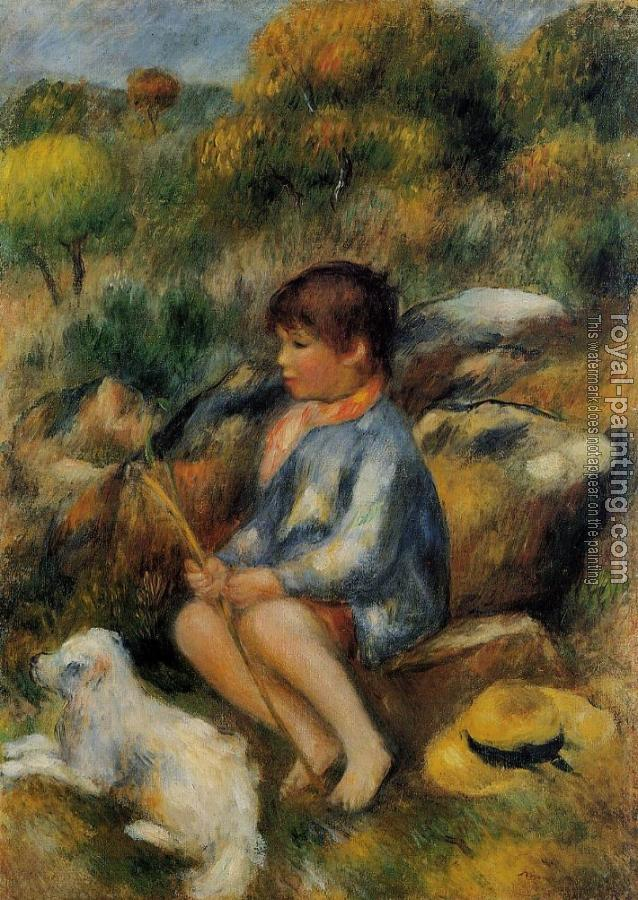 Pierre Auguste Renoir : Young Boy at the Stream