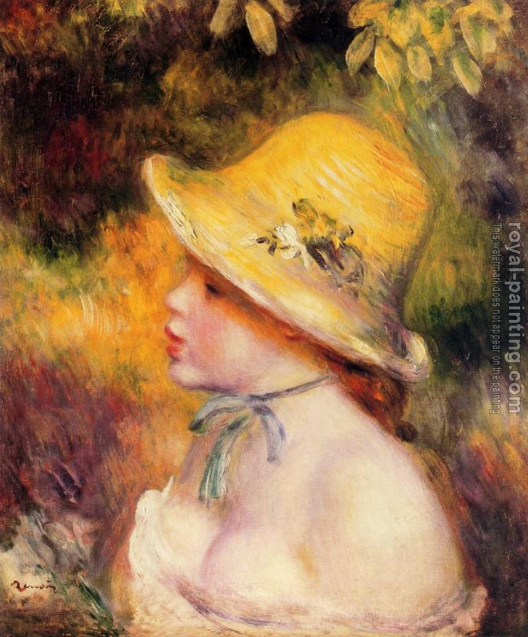 Pierre Auguste Renoir : Young Girl in a Straw Hat II