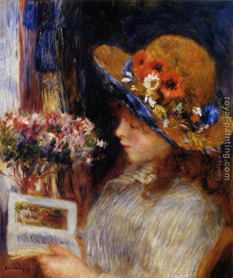 Pierre Auguste Renoir : Young Girl Reading
