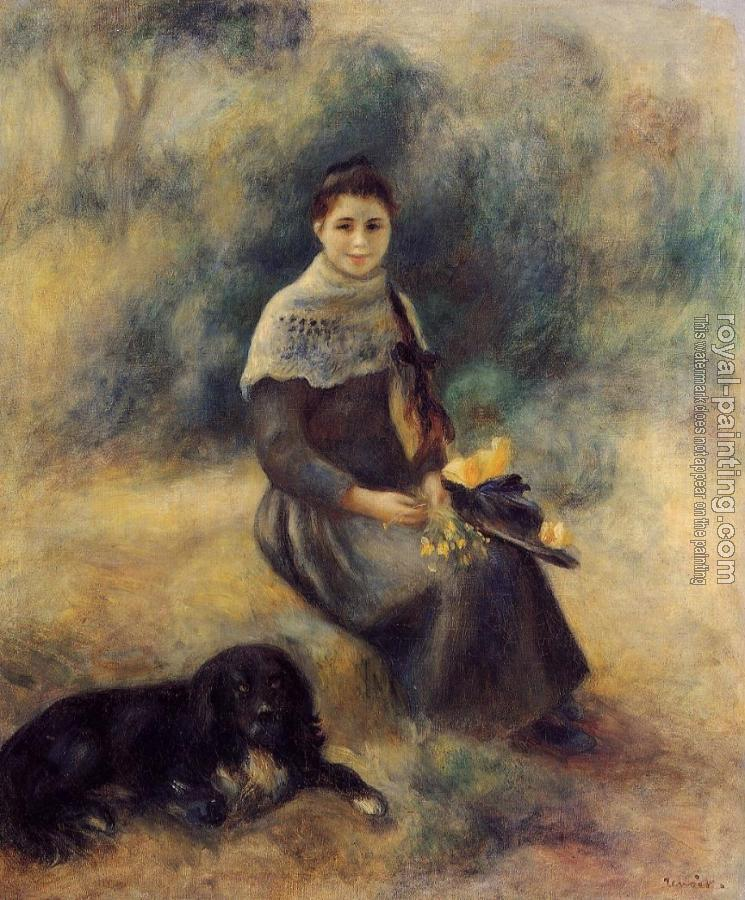 Pierre Auguste Renoir : Young Girl with a Dog