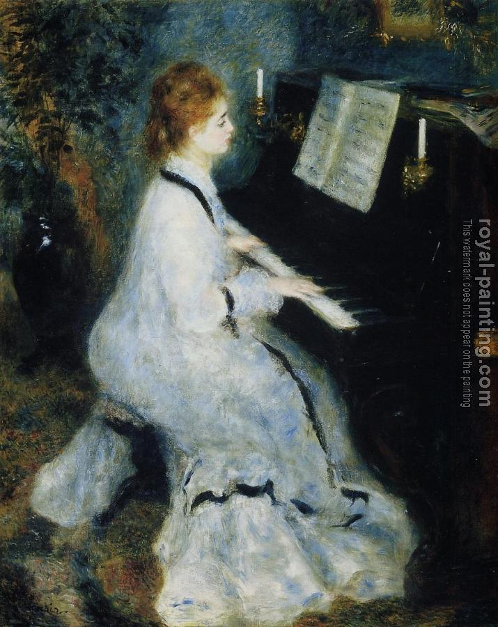 Pierre Auguste Renoir : Young Woman at the Piano