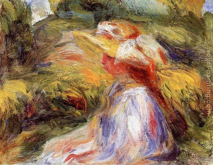 Pierre Auguste Renoir : Young Woman in a Hat