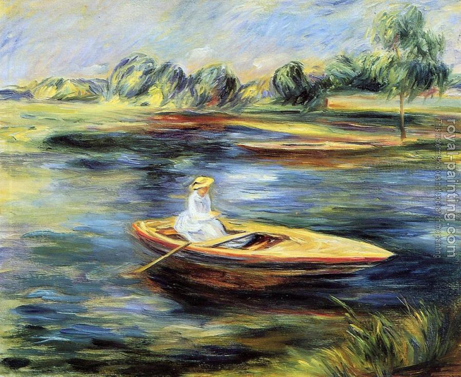 Pierre Auguste Renoir : Young Woman Seated in a Rowboat