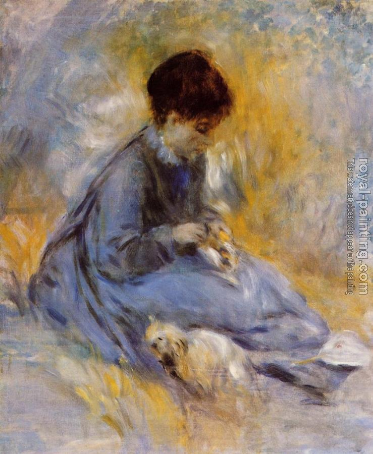 Pierre Auguste Renoir : Young Woman with a Dog