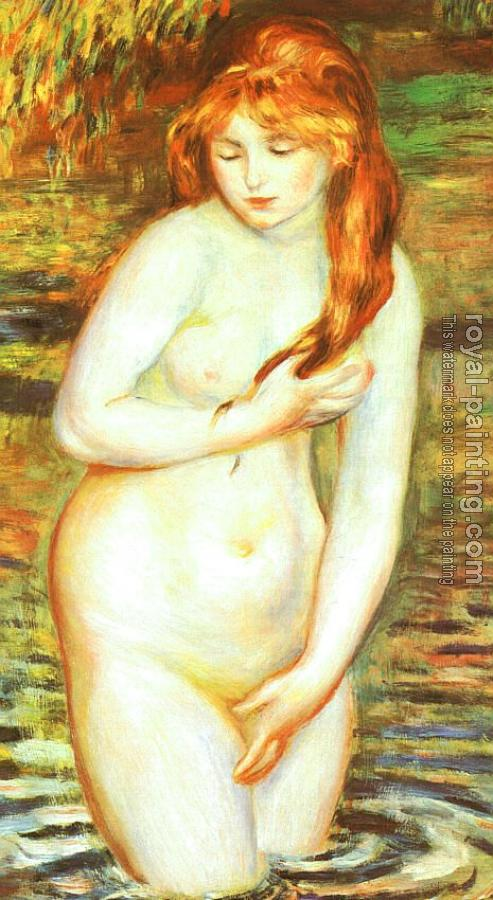 Pierre Auguste Renoir : The Bather(After the Bath)