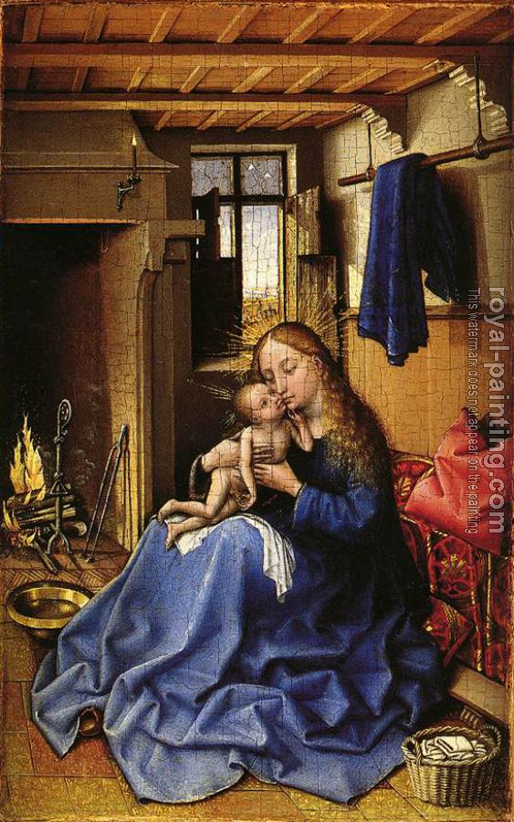 Robert Campin : Virgin and Child in an Interior