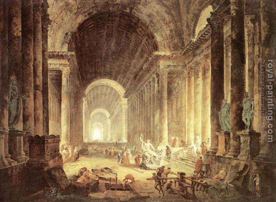 Hubert Robert : The Finding of the Laocoon
