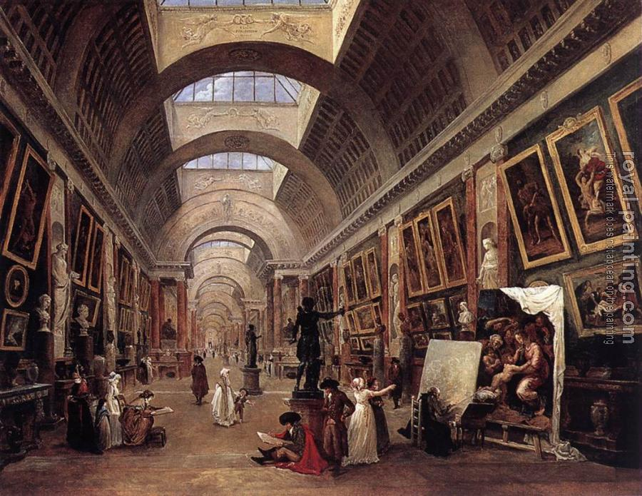 Hubert Robert : Design for the Grande Galerie in the Louvre