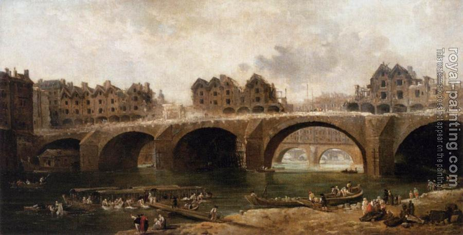 Hubert Robert : Demolition of the Houses on the Pont Notre-Dame in 1786