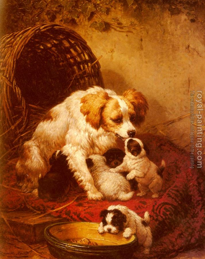 Henriette Ronner : The Happy Family